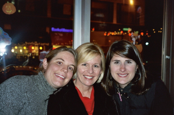 Sara (who invited me to be the World's Oldest Bridesmaid), Me, and Brooke in Chicago '06 in the fall that followed my Starbucks Summer of My Discontent