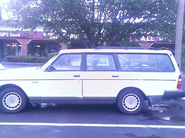 Volvo in remission--sighted at J. Alexander's in Bellmeade, 2007