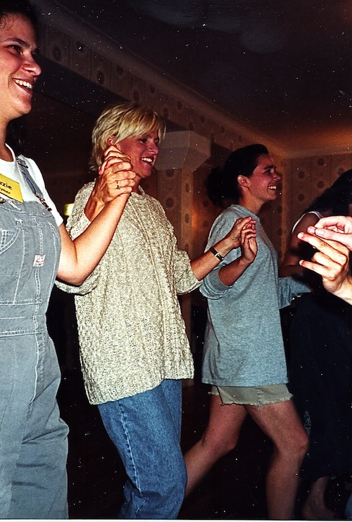 Girls line dancing
