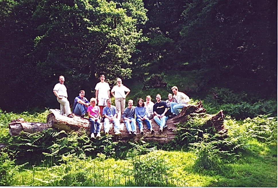 Group on a log