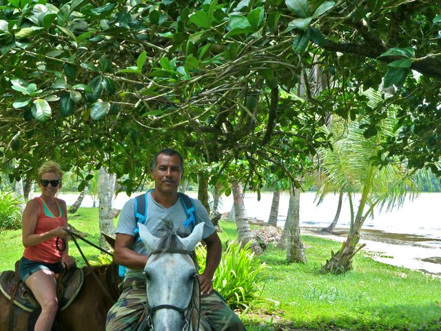 Cindy McCain Horseback Riding in Costa Rica with Raul