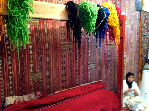 I was given a textile tour by a nice man. Though his carpets aren't magic, he explained the the story behind them.