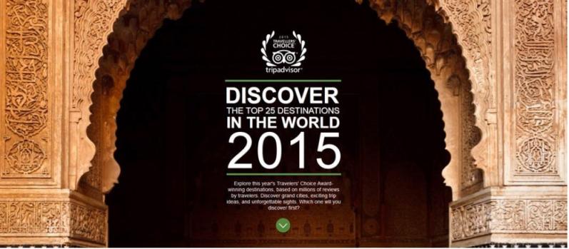 Trip Advisor's 2015 Top 25 Destinations