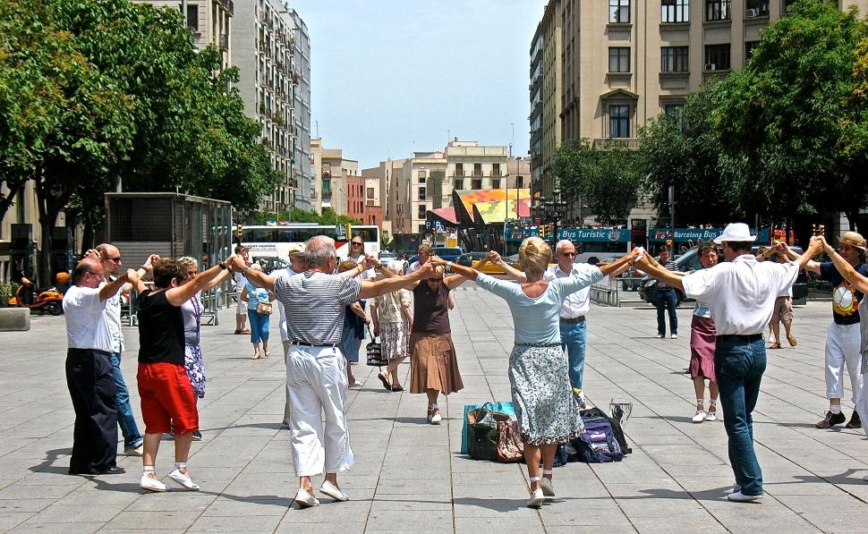 Catalan dance in Barcelona