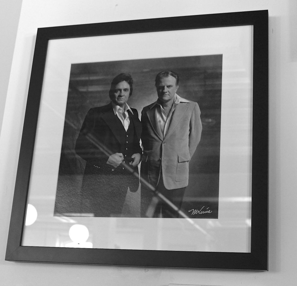 Johnny Cash and Billy Graham, most famous preacher of my time. I still remember my Mama Lou watching his Crusades.