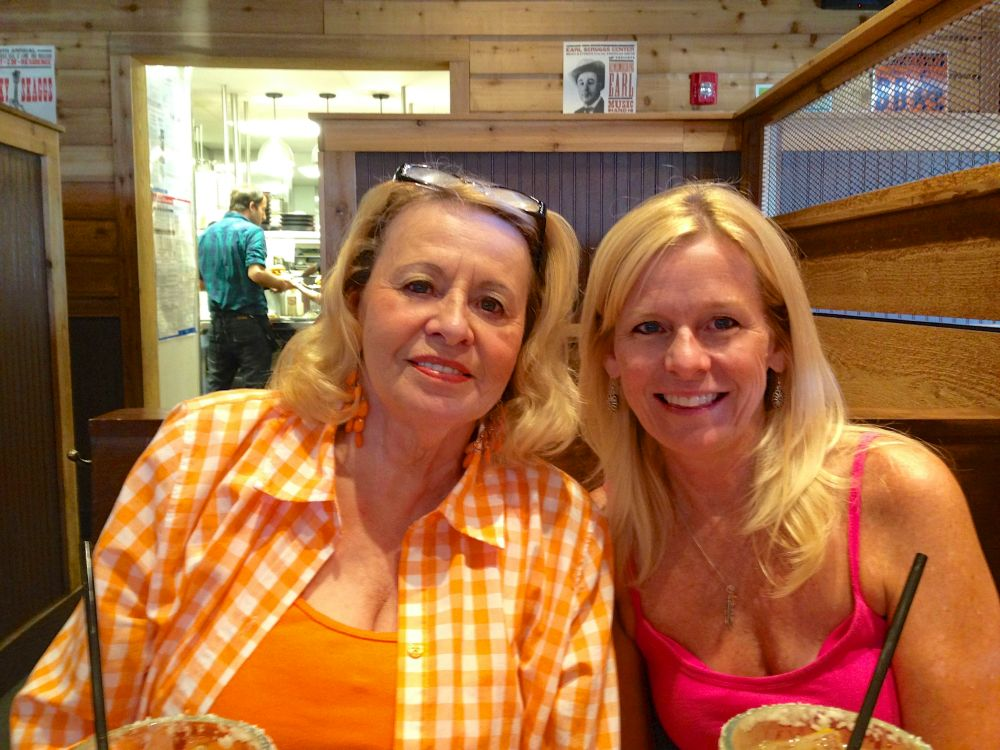 Mom and me at Logan's