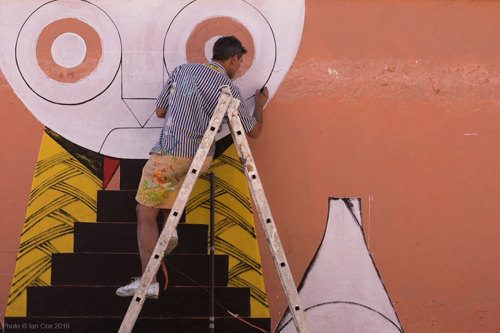 Giacomo Bufarini RUN working MB6 Street Art photo ©_Ian_Cox_2016 (1)